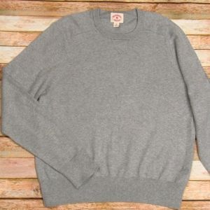 Brooks Brothers Men's Crew Neck Gray Sweater M